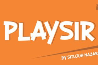 http://Playsir is a font created bySitujuh Nazara.This fonts comes with our commercial license.