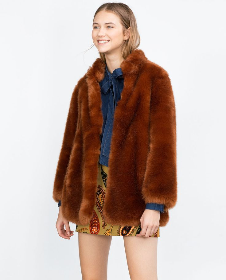 Image 4 Of FAUX FUR COAT From Zara