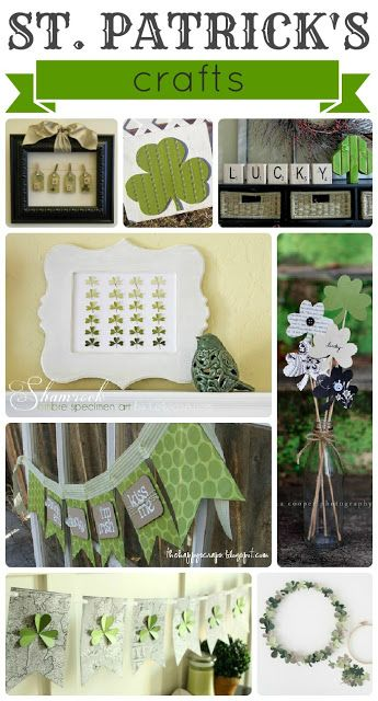 Love this list of St. Patty's Day Crafts! I better get crafting! :)