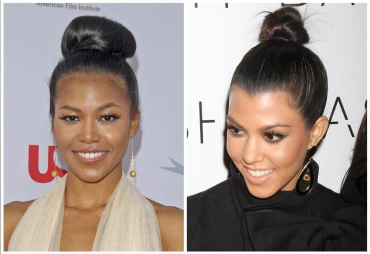 Look- Alike , Also Like Bun Fashion Kourtney Kardashian & Amerie Singer ~