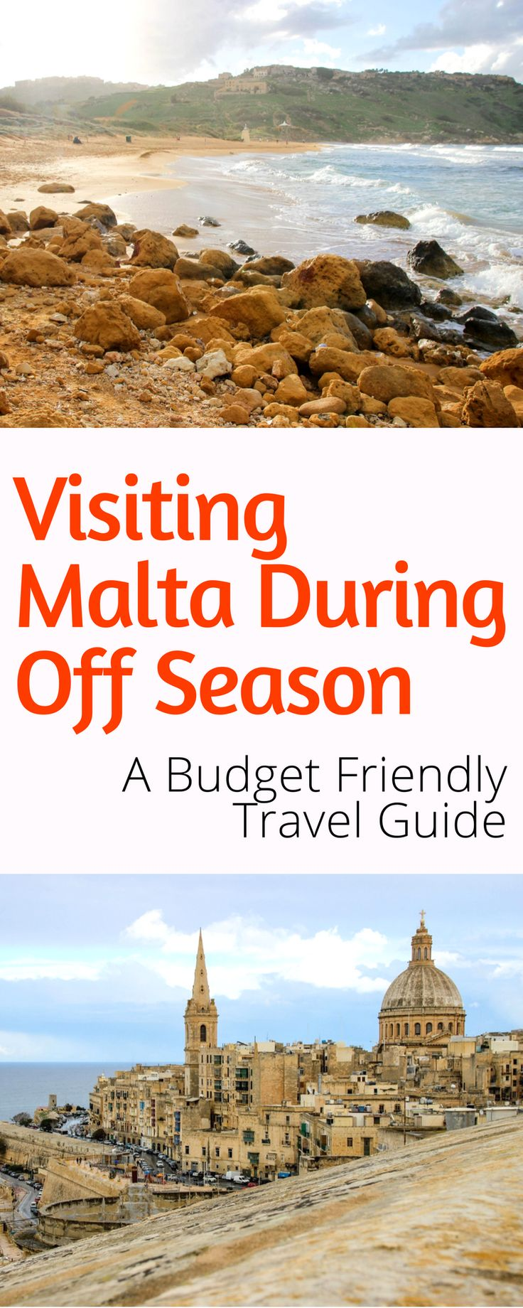 Visiting Malta During Off Season: A Budget travel guide to Malta during the off season. How to get there, what to see and do, where to stay, and more! Click here to start planning your trip today!