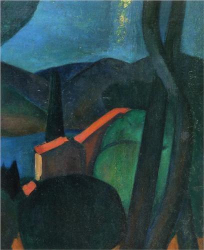 Martigues Landscape - Andre Derain 1908 Fauvism