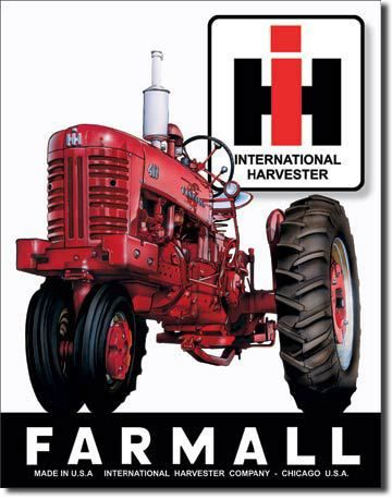 Farmall International Harvestor Vintage Sign Reproduction farmall tractors have been a work horse for the american farmer for many years. When International Harvestor purchased the farmall line the na