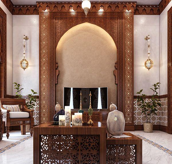 arabian style living room - 600×572