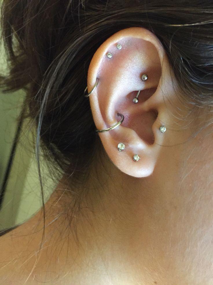 Ear piercings (: Rook. Conch. Tragus. Cartilage.