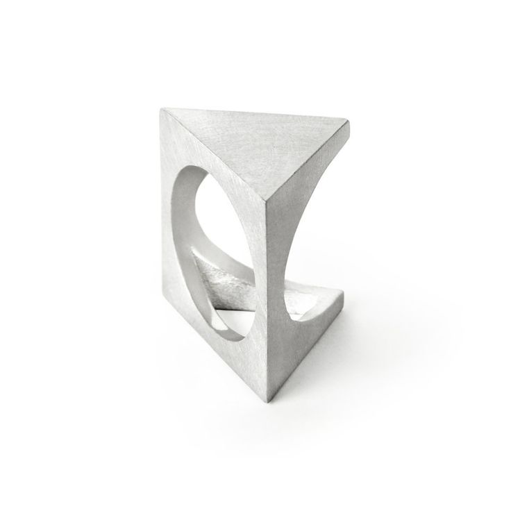 Visibly Interesting: Selin Kent minimalist open cuff ring in White Gold plated Sterling Silver