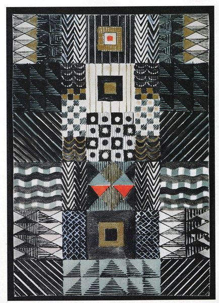 Gunta Stölzl, Design for a Jacquard Woven Wall Hanging, 1927, Victoria & Albert Museum, London
