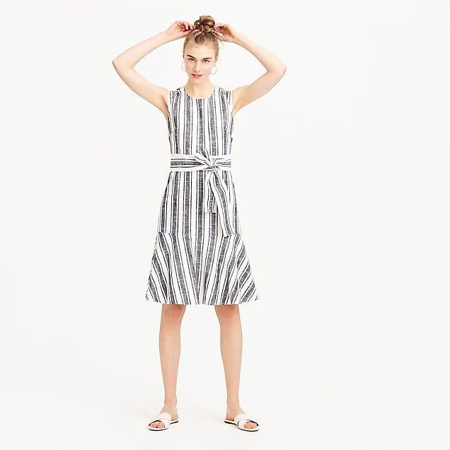 Women S Tall Belted Dress In Linen Women S Dresses Sewing