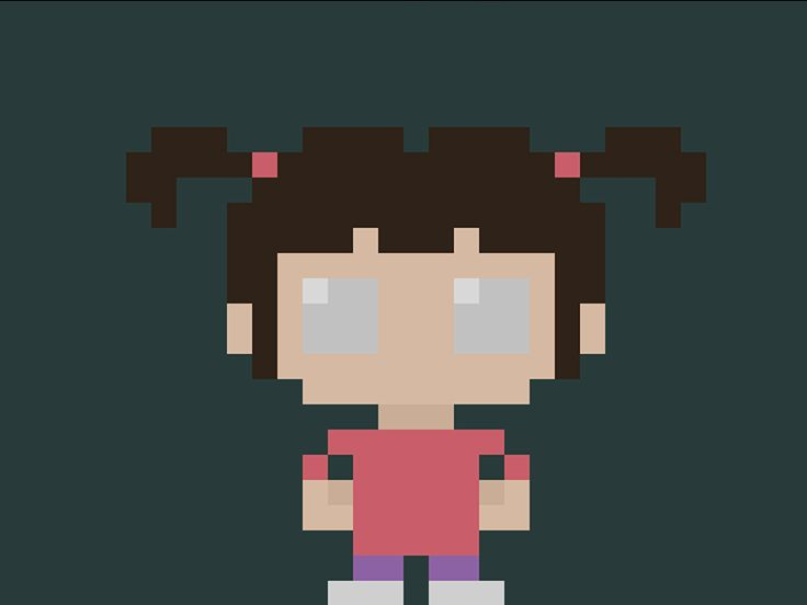 """Famous Characters in Pixel Art: Boo from """"Monsters & Co."""" Cartoon #boo #monstersinc #monsters #monsterseco #pixar #pixel #pixels #pixelart #16bit #characters #cartoon #theoluk #baby"""