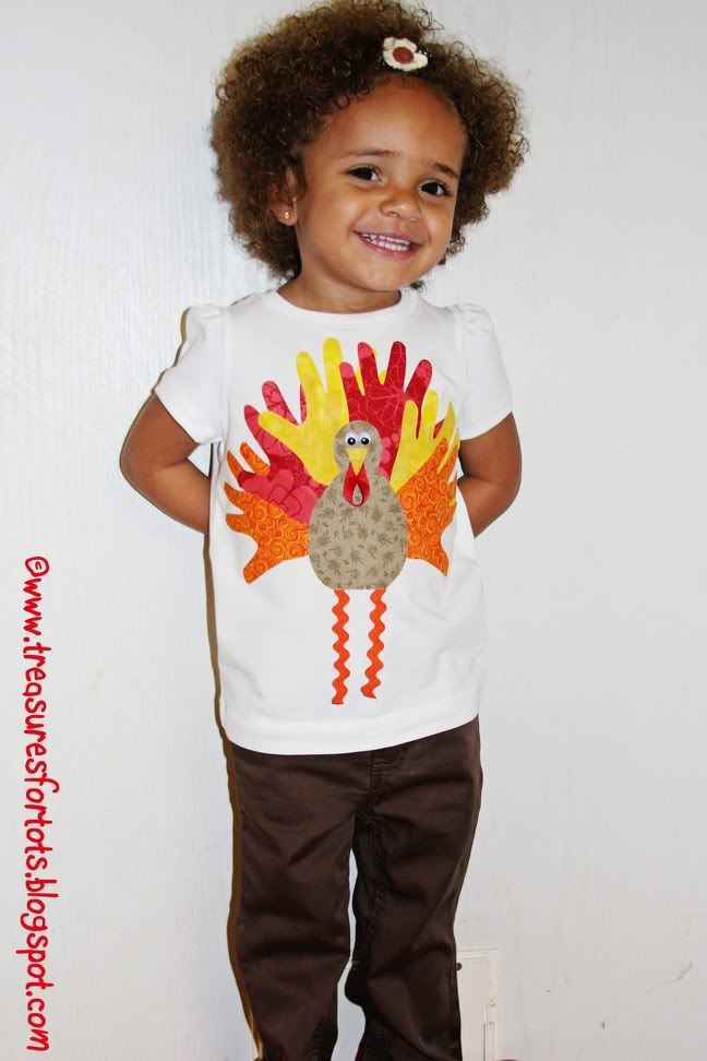treasures for tots: Tiny Hands Turkey Applique Tutorial