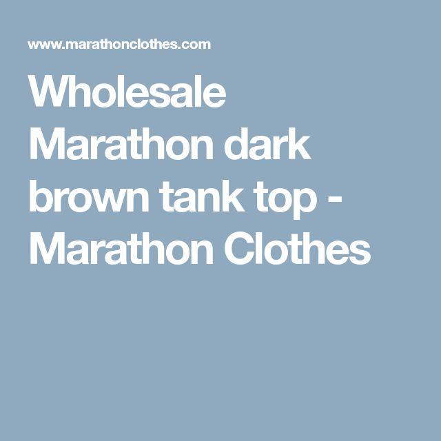 Wholesale Marathon dark brown tank top - Marathon Clothes