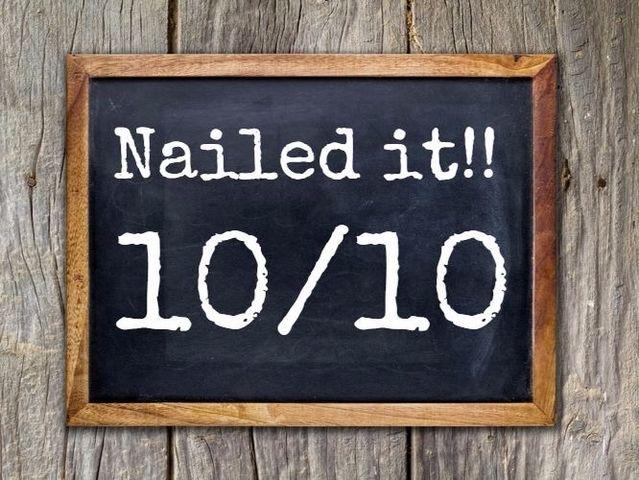 I got: 10/10: Perfect!!!