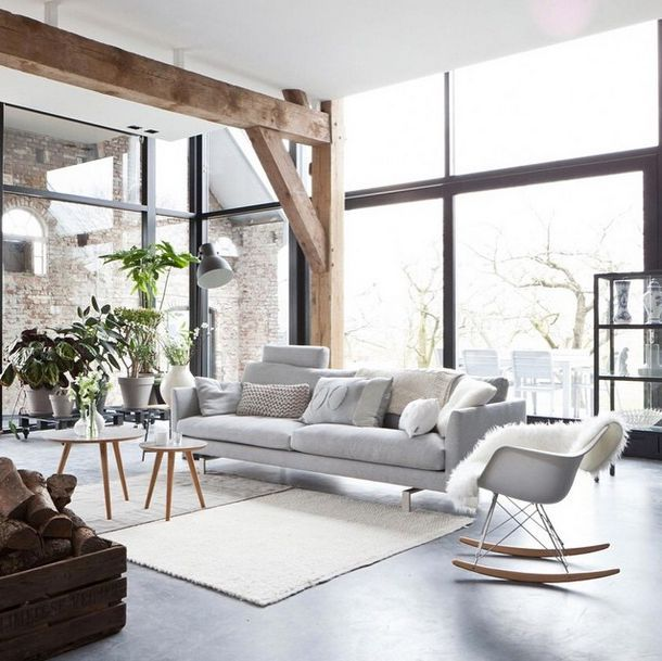 Scandanavian home | Light & bright living room | Natural style | Modern Home Interiors | Contemporary Decor Design #inspiration #nakedstyle