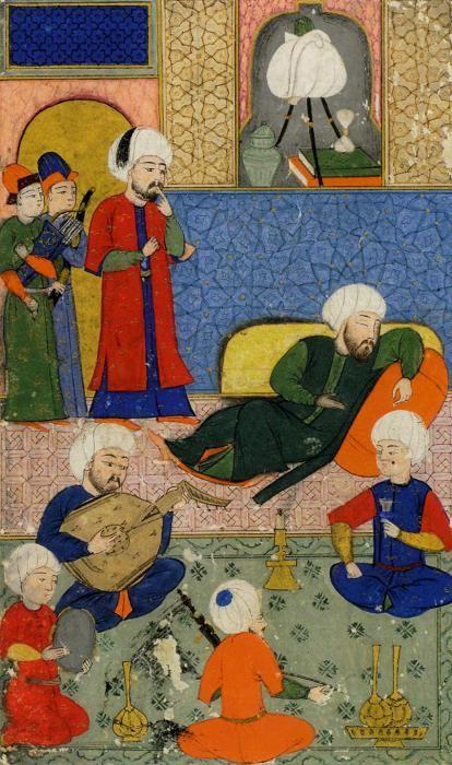 SULTANLARIN ZAFERLERI  Miniature Artist:Nakkaş Osman Date: 972 - 973 / 1565 Explanation:Gülistân adlı eserden Seri No: 5352