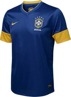 Brazil Soccer Royal Nike Replica Away Jersey - made from 100% Recycled Material-  http://www.fansedge.com/Brazil-Soccer-Royal-Nike-Replica-Away-Jersey-_1249256532_PD.html?social=pinterest_3612_brazil
