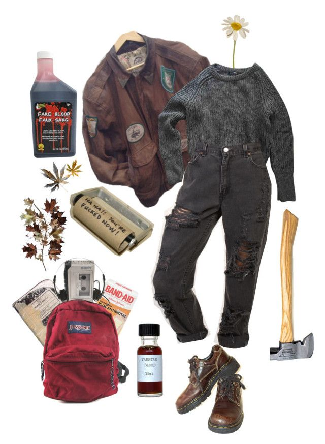 """mountains"" by lemonscentedgay on Polyvore featuring Sony, American Apparel, Dr. Martens, JanSport and C. Jeré"