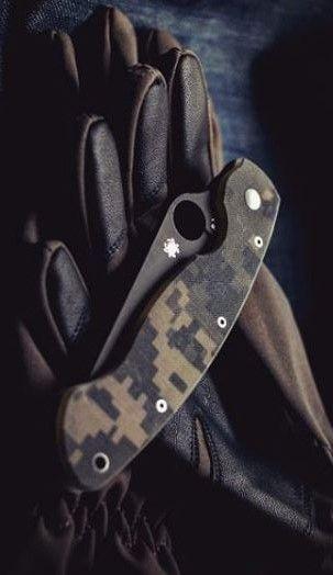 Spyderco Military Model G-10 Plain Edge EDC Folding Pocket Knife Blade - Everyday Carry Gear