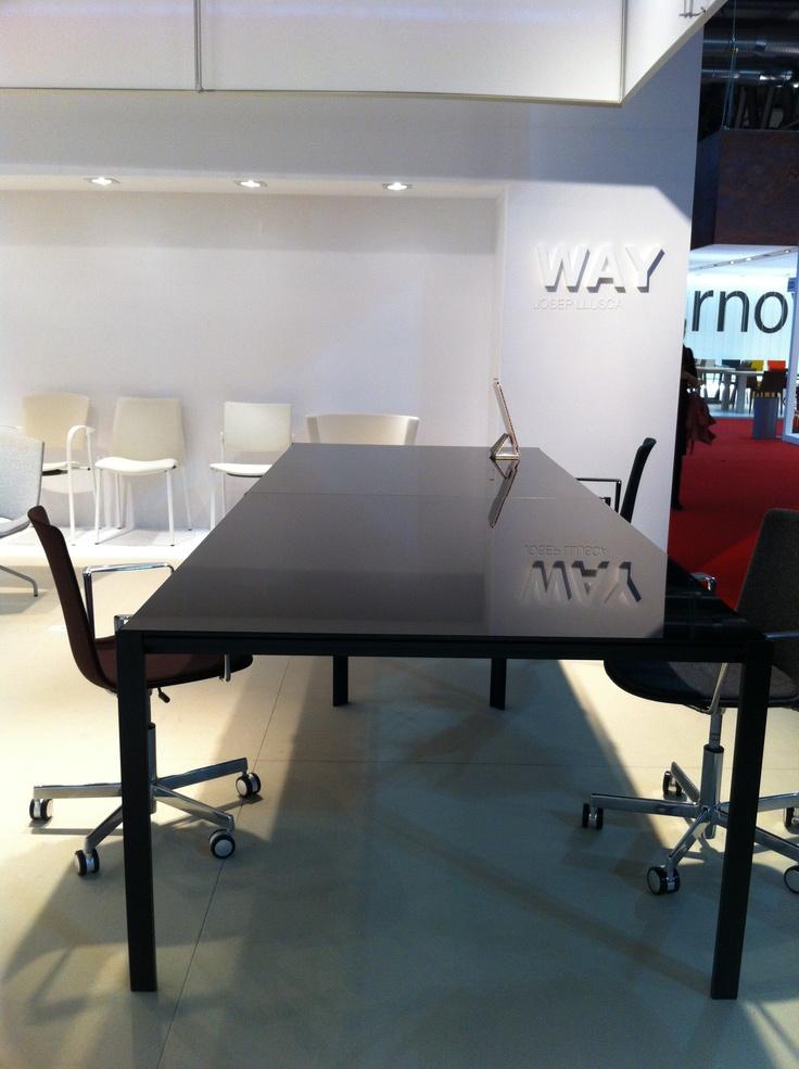 Way table in Enea stand - Salone Internazionale del Mobile 2013