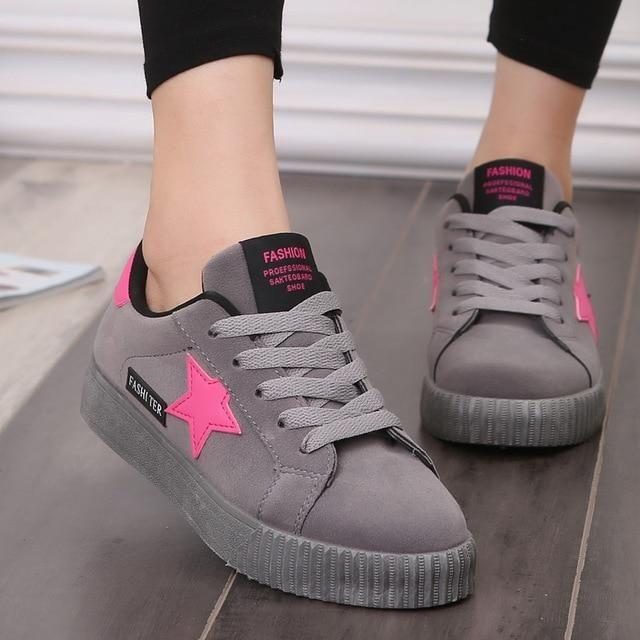 4ea480b2acd Weweya Moda Mulheres Vulcanize Shoes Shoes Casual Shoes Mulher ...