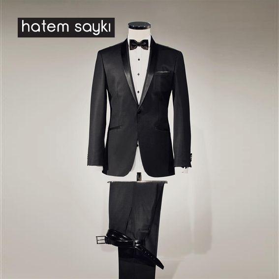 Yılbaşı gecesinin en şık kıyafetine sahip olabilirsiniz... #gomlek #papyon #smokin #hatemsayki http://www.hatemoglu.com/p/117/siyah-smokin?variantId=307