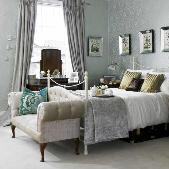 Silver Duck Egg Blue Greens Pale Gray Bedroom Color
