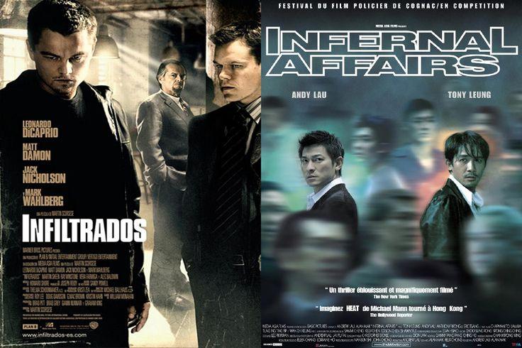 """Infiltrados (2006). - Otro refrito dirigido por Martin Scorsese que se llevó de calle a su versión original china """"Infernal Affairs"""", ¿y cómo no? las actuaciones de Leonardo DiCaprio y Jack Nicholson son excepcionales, además Scorsese se llevó un Óscar por esta película."""