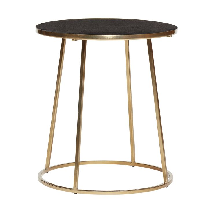 Table w/gold frame, metal/marble, black/gold. Product number: 670320 - Designed by Hübsch