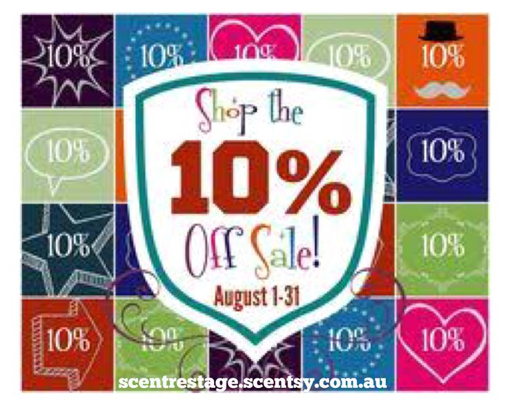 10% off Scentsy in August