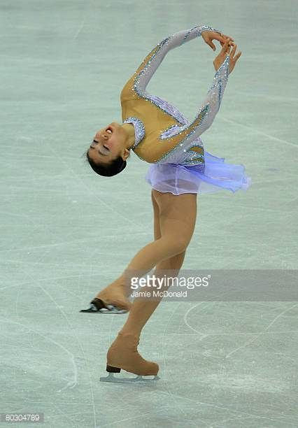 Mao Asada of Japan in action during her Short Programe during the ISU World Figure Skating Championships at the Scandinavium Arena on March 19 2008...