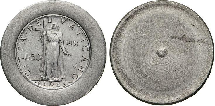 NumisBids: Numismatica Varesi s.a.s. Auction 65, Lot 863 : PIO XII (1939-1958) Prova di stampa in alluminio del rovescio del...