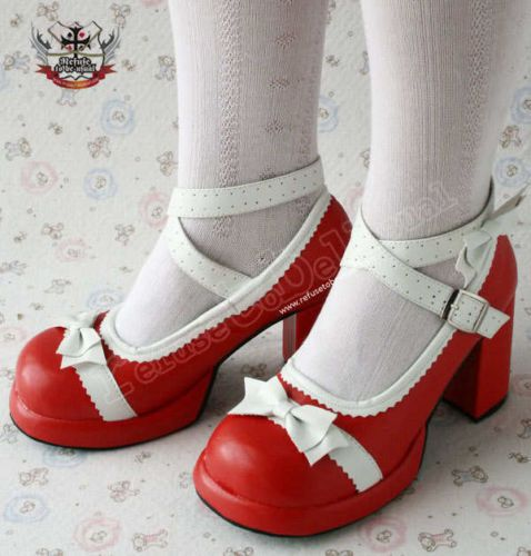red lolita shoes ebay