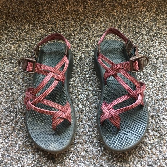 Classic Chacos Worn. Of good quality. Pink/maroon Chacos Shoes Sandals