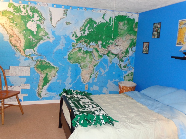Best Map Bedroom Images On Pinterest Map Bedroom World Maps - Boys room with maps