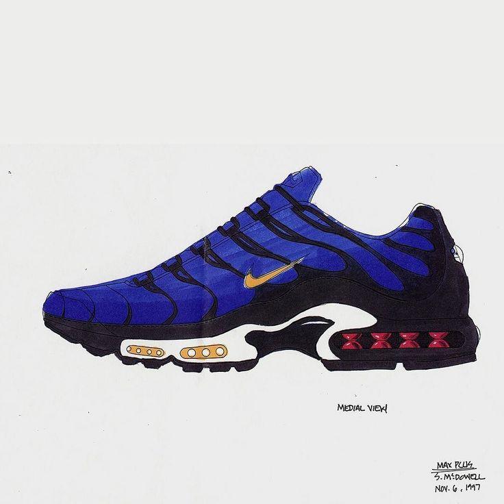 Sean McDowell Nike Air Max Plus sketch from 1997.  #eukicks #sneakers #trainers #footwear #shoes #kicks #nike #airmaxplus #tn #sketch #design #sneakernews #sneakerhead #sneakerporn #sneakergame #sneakerfreaker #sneakerfiles #sneakerfreak #nicekicks #kickonfire #kicksonfire #kickstagram #instakicks #hypebeast
