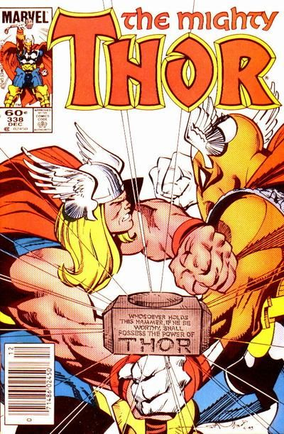 Cover. Thor and Beta Ray Bill. By Walter Simonson.   In this spotlight, we'll see a being that proved himself worthy of lifting mighty Mjolnir itself, Beta Ray Bill! Yes, that horse-faced Korbinite...