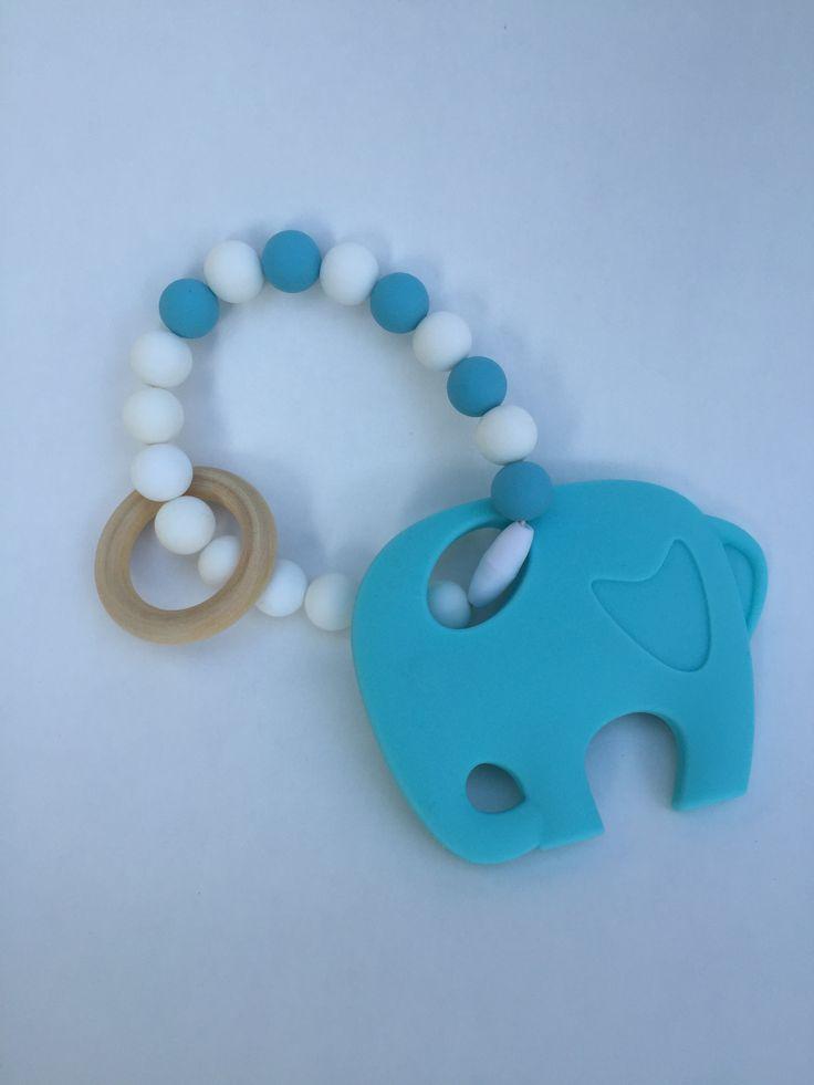 Siliconen #bijtring #olifant Kraamkado #kraamcadeau #baby #babykado #geboortekado #babykamer #babyshower op www.hummelkado.nl