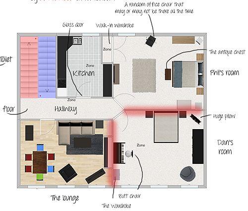 Dan and Phil apartment layout