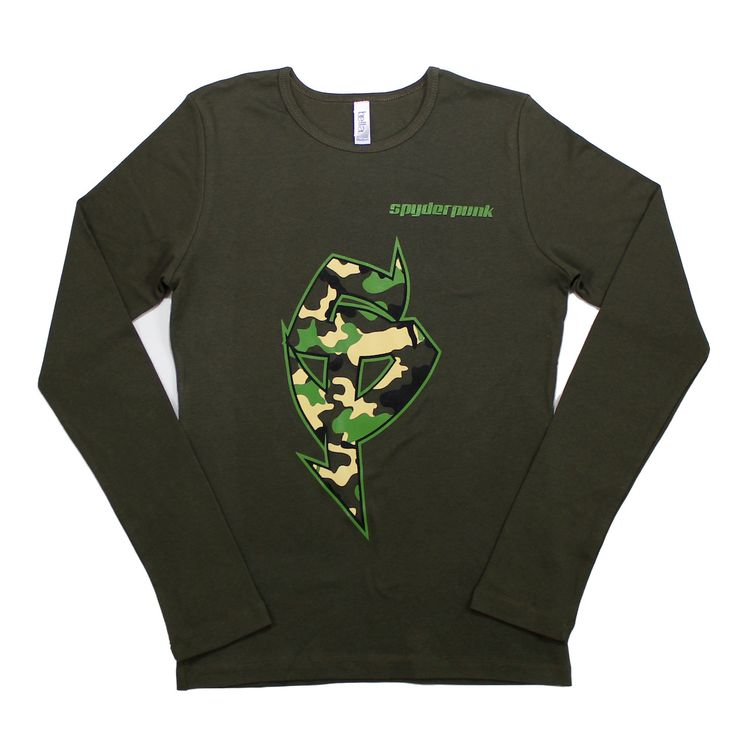 Women's Camo L/S Tee in Green