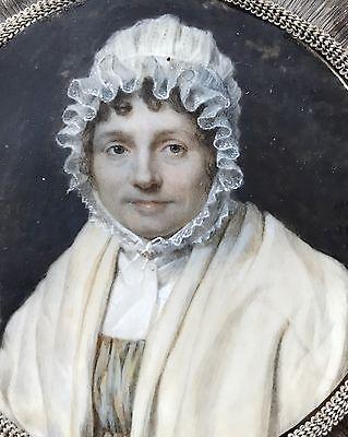 Portrait miniature de Madam Charlotte Dupont par Petit en 1817