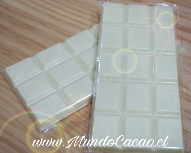 Barra de chocolate blanco.