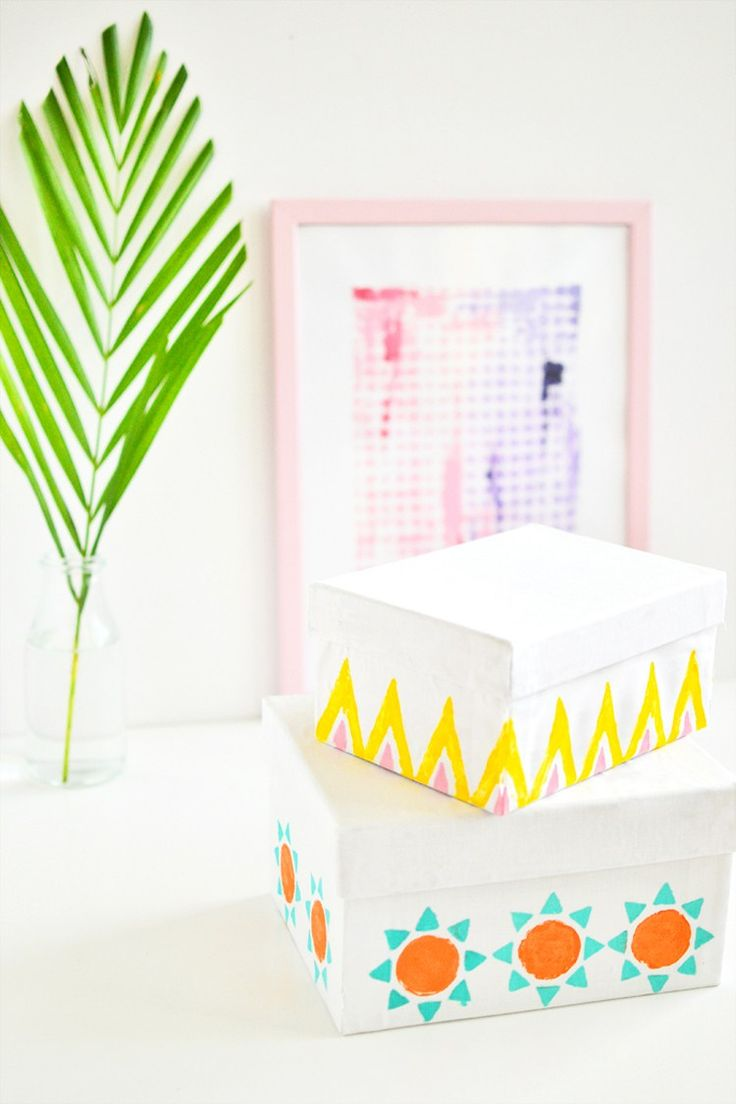 DIY Modern Storage Boxes for We Make Collective