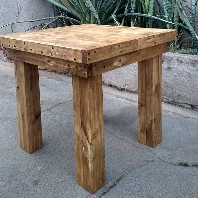 rustic small table designs wood table
