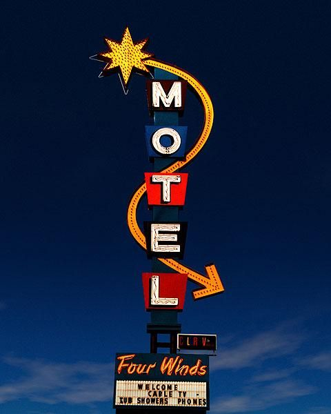 Four Winds Motel • Durango, Colorado: Durango Colorado, Martin Garfinkel, Neon Signs, Wind Motel, Fine Art Photography, Vintage Signs, Motel Neon, Art Photos, Motel Signs
