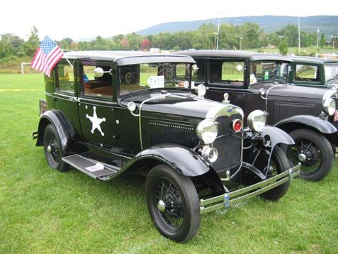 Antique Model a Ford Cars | 1929 Stearns Knight, and 1930 Ford Model A Police Car