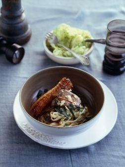 Romige tagliatelle met kippenlever - Recepten - Eten - ELLE | ELLE