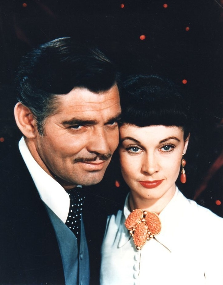 """Gone With the Wind"" [1939], Clark Gable and Vivien Leigh as Rhett Butler and Scarlett O'Hara ..."