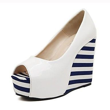 Women's Shoes Peep Toe Wedge Heel Pumps Shoes More Colors available – USD $ 34.99