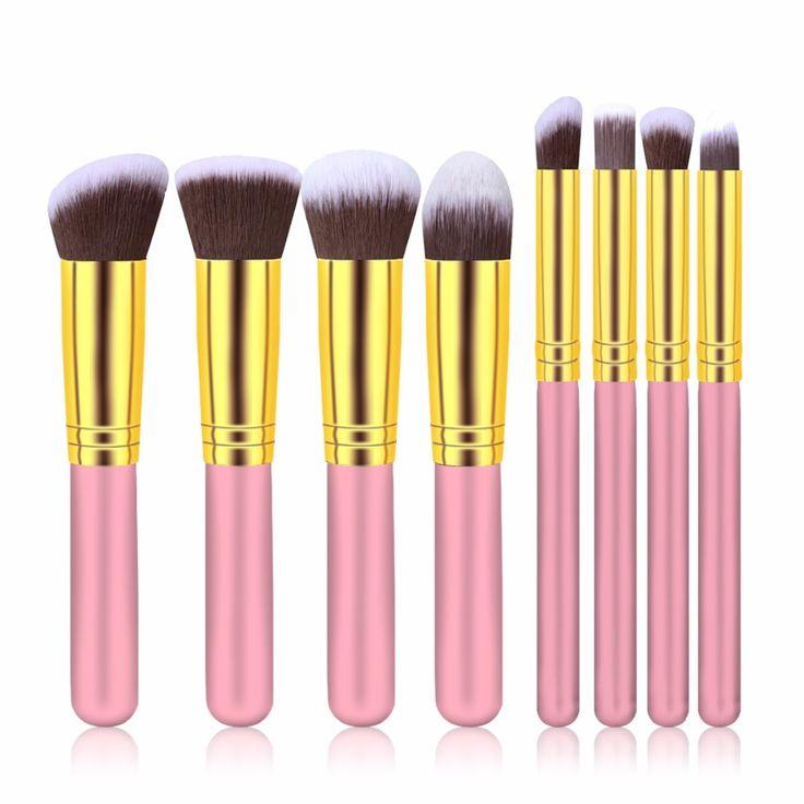 $4.89 (Buy here: https://alitems.com/g/1e8d114494ebda23ff8b16525dc3e8/?i=5&ulp=https%3A%2F%2Fwww.aliexpress.com%2Fitem%2Fmc-8pcs-professional-makeup-brushes-tools-set-kit-bag-organizer-use-wood-metal-nylon-goat-hair%2F32309743274.html ) 8pcs professional makeup brushes tools set pinceis de maquiagem organizer use wood metal nylon  palette for makeup brush for just $4.89