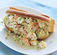 Shrimp Salad Rolls with Tarragon & Chives