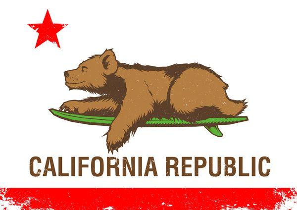 CALIFORNIA SURF REPUBLIC Art Print